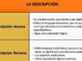 Diferencias entre la descripción literaria y no literaria