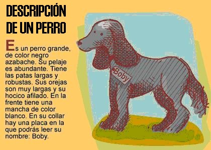 La descripción de un perro